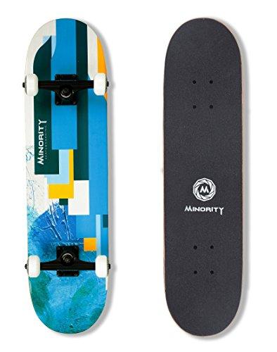 MINORITY 32inch Maple skateboard (Blue) (Graphic Skateboard)