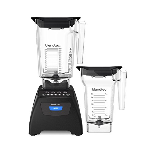 Blendtec Classic 575 Blender - WildSide+ Jar (90 oz) and FourSide Jar (75 oz) BUNDLE - Professional-Grade Power - Self-Cleaning - 4 Pre-programmed Cycles - 5-Speeds - Black