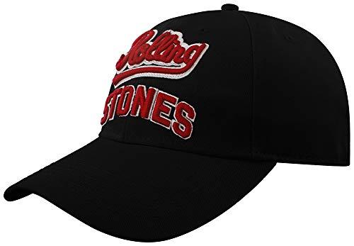 Rolling Stones Men's Team Logo Baseball Cap Adjustable Black