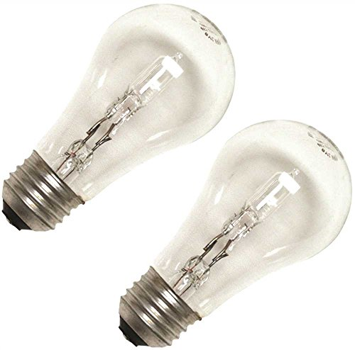 Sylvania Tungsten Halogen Lamp, A19, 43 Watts, 120 Volts, Medium Aluminum Base, Clear, 2 Per Box - Clear Medium Aluminum Base