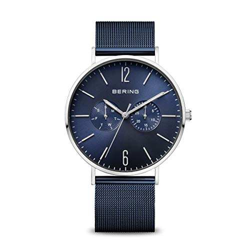 BERING Reloj Analógico Classic Collection para Hombre de Cuarzo con Correa en Acero Inoxidable y Cristal de Zafiro 14240…
