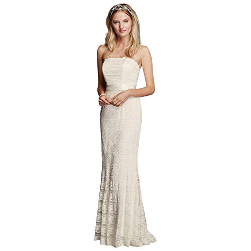 Stile Bianco In 7vw9340 Godet Sposa Inserti Di Pizzo Petite Perline David Guaina PpO18wZqx1