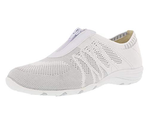 Skechers Sport Women's Unity Transcend Fashion Sneaker,White/Silver,8 M US (Best Low Top White Sneakers)