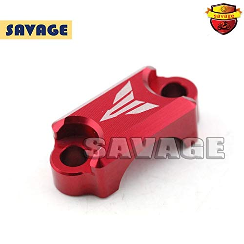 (Frames & Fittings Motorcycle CNC Aluminum Brake Master Cylinder Clamp Handlebar Clamp Cover for Yamaha YZF-R3 YZF-R25 2014-2015 Red)