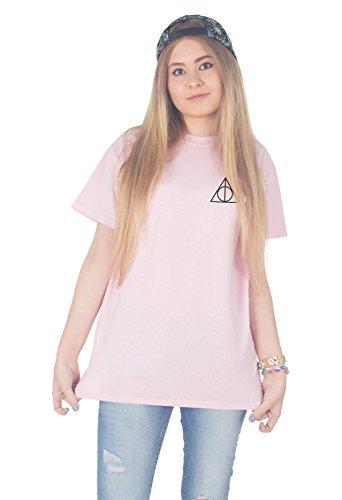 Sanfran Clothing Women's Harry Potter Triangle Pocket Tshirt Medium Light Pink]()