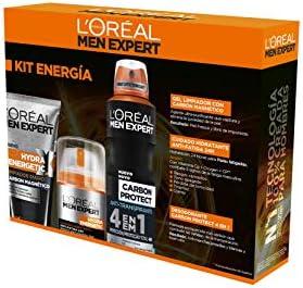 LOréal Paris Men Expert Hydra Energetic - Kit de Energía, Crema Hidratante, Gel Limpiador y Regalo Desodorante: Amazon.es: Belleza