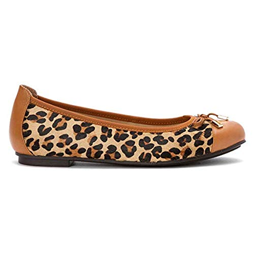 Ballet Spark Women's Vionic Leopard Tan Minna Flat qC785at8