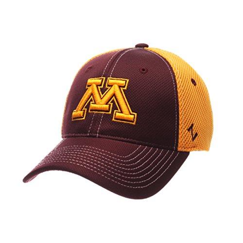 NCAA Minnesota Golden Gophers Men's Rally Z-Fit Cap, Medium/Large, Maroon/Gold