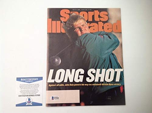 - John Daly Signed Full No Label Sports Illustrated SI Beckett BAS COA a - Beckett Authentication - Autographed Golf Magazines