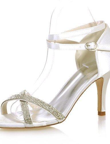 ShangYi Schuh Damenschuhe - Sandalen - Hochzeit / Party & Festivität - Satin - Stöckelabsatz - Vorne offener Schuh -Schwarz / Blau / Lila / Rot / Silver