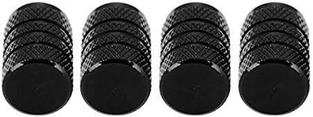 【GFA】4 PCS 2019新型耐久性黒アルミニウム合金ホイールバルブヘッドカバー自動車部品防塵カバー自動車部品