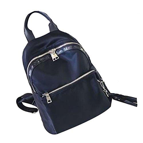 Mochila Impermeable De Las Muchachas De Las Mujeres Mochila Nylon School Bags College Daypacks negro