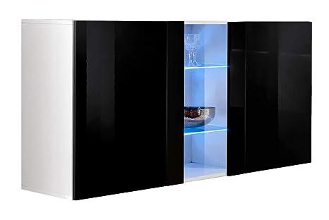 Credenza Moderna Profondità 40 : Credenza sospesa moderna design salve bianco nero larghezza: 120cm