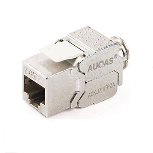 Cat7 RJ45 FTP Tool-less Type Zinc Alloy Module Shielded Keystone Jack Adapter 10 Gigabit Modular Jack (10PCS/Pack)