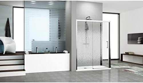 Puerta de ducha (dos paneles Dont un japonés Novellini Kuadra 2P – cromado – transparente – de punta derecha – 108 – 114 cm): Amazon.es: Bricolaje y herramientas