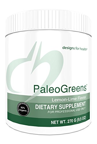 Designs for Health - PaleoGreens Lemon-Lime Vegetable, Fruit and Berry Powder, 270g.