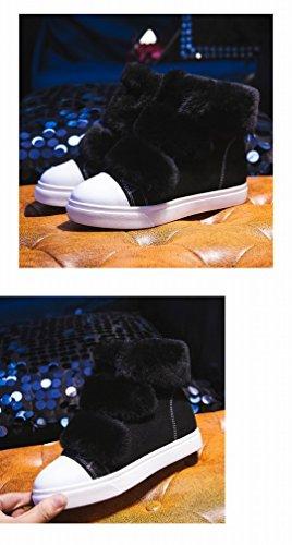 Neige Automne Zh Chaudes Cachemire Noir Des Et L'ouest De D'hiver Chaussures Femmes Velcro Plus Bottes Épaisses qqHwPrE1A