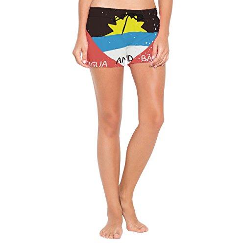 Distressed Antigua and Barbuda Flag Womens Swimming Trunks Beach Board Shorts ()