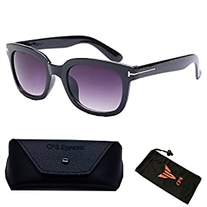(#BJ5091 Prp) Vintage Outdoor Designer Celebrity TF 010 James Bond Sunglasses Eyewear Glasses Sunglass (Color: Purple Lenses)