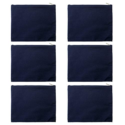 Aspire 6-Pack Navy Cotton Canvas Bags 9.5