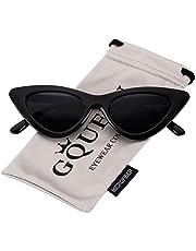 GQUEEN Occhiali da Sole a Gatto Protezione UV Occhiali da Sole Kurt Cobain,GQZ7