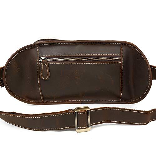Sviper Genuine Leather Funny Pack New Chest Pocket Casual Sport Waist Bag Crossbody Waist Pack