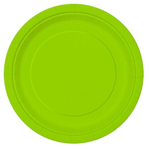 Neon Green Paper Cake Plates, 20ct for $<!--$6.35-->