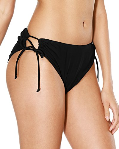 - Sociala Black Bikini Bottoms Full Coverage Swim Bottoms For Women Swim Briefs L