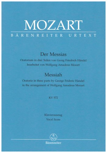 Mozart Der Messias Klavierauszug KV 572
