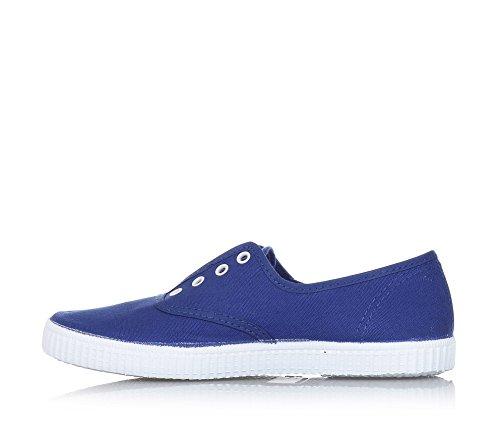 CIENTA - Blauer Schuh aus unbehandeltem ökologischem Stoff, Innenfutter aus atmungsaktivem Stoff, Jungen