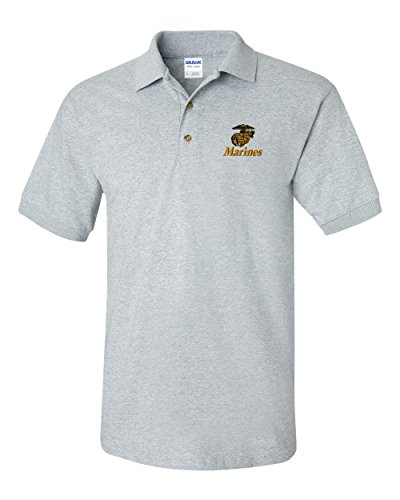 US Marines Custom Personalized Embroidery Embroidered Golf Polo - Marine Personalized