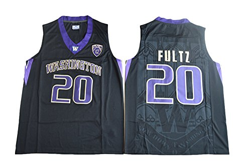 Men's Washington Huskies #20 Markelle Fultz College Basketball Black Stitched Jersey L