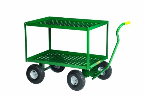 Little Giant 2LDWP2436-10P-G Steel Perforated Deck Wagon Truck with 10