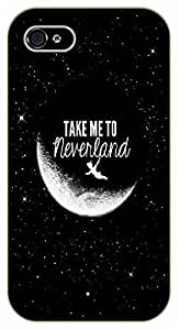 iPhone 5C Take me to neverland - black plastic case / Inspirational and motivational, Peter, Pan
