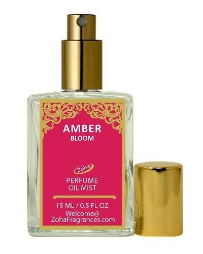 Himalayan Beauty Collection (Amber Bloom Perfume Oil Mist (no Alcohol) Amber Parfum by Zoha Fragrances, 15ml/0 .5fl Oz)
