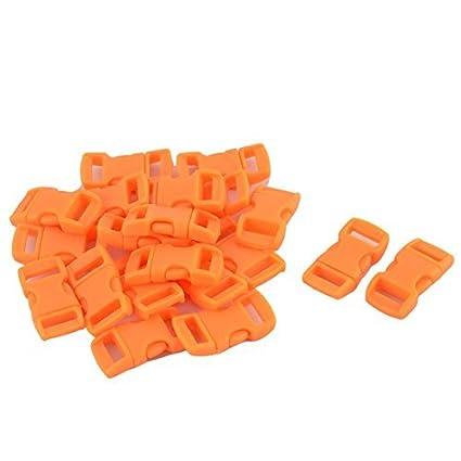 Amazon.com: eDealMax plástico curvo bolso del lanzamiento lateral hebillas de las correas DE 10 mm Ranura 20Pcs Naranja Luz