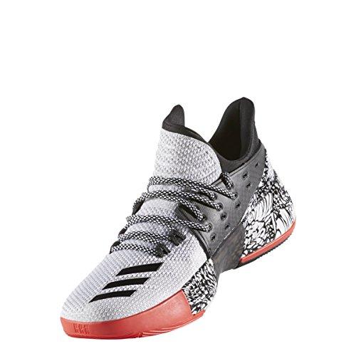Adidas Mens Dame 3 Bianco / Nero / Rosso