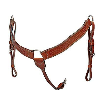 Image of Breastplates Colorado Saddlery The All Around Breast Collar with Basket Stamp
