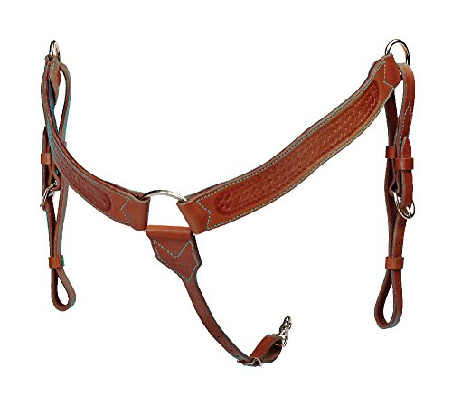 The Colorado Saddlery All Around Breast Collar with Basket Stamp