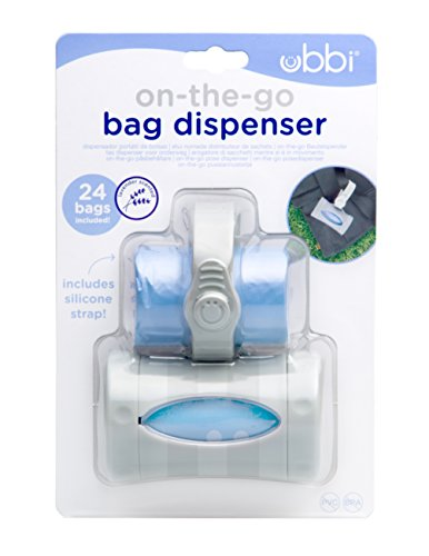 Ubbi On The Go Gray Bag Dispenser,Lavender Scented, Baby ()