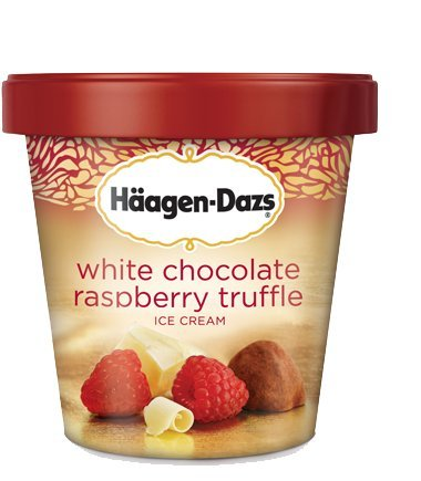 Haagen Dazs, White Chocolate Raspberry Truffle Ice Cream, Pint (8 Count)