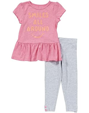 Little Girls' 2 Piece Pants Set