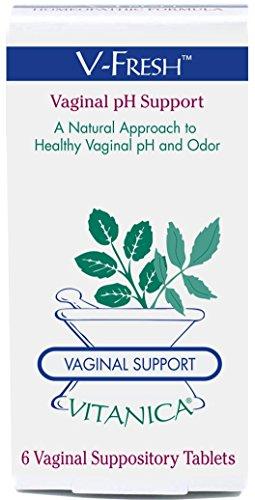 Vitanica - V-Fresh - Vaginal pH Support - 6 Suppositories