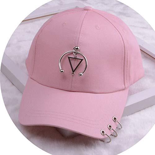 女性 リング野球帽 男性女性 白黒 野球の帽子,トライアングル2ピンク