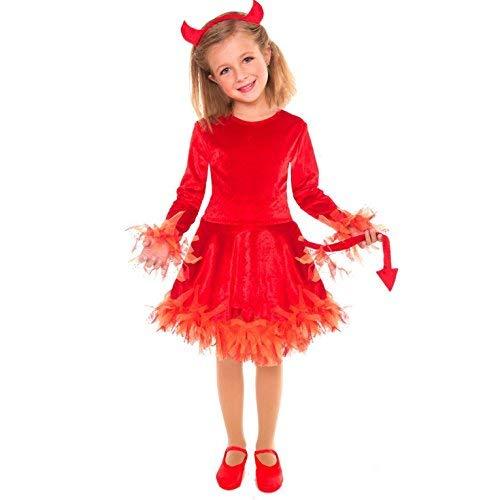 (Morph Girls Devil Costume, Red,)