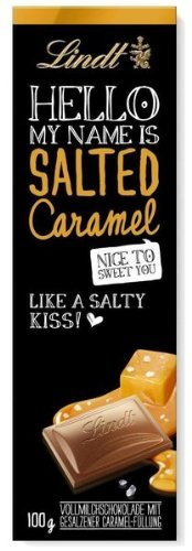 2x Lindt HELLO, Salted Caramel 100g (German Import)