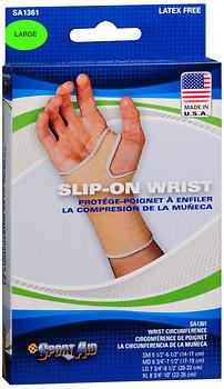 Sport Aid Slip-On Wrist Support, Large - 1 Each, Pack of 6 by SportAid