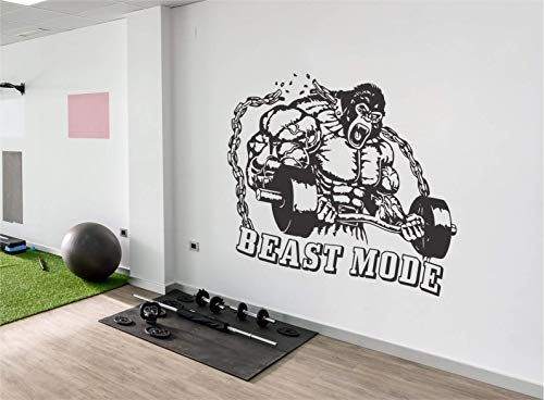 Motivational wall decals for gym | Fitness wall decal decor | Home gym wall art | King Kong fitness...