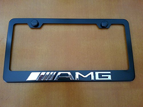 Mercedes benz amg 3d logo license plate frame black get for Mercedes benz license plate logo