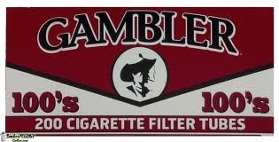 Gambler Full Flavor 100 Cigarette Tubes (10 Boxes) 200 Count Per Box = 2000 Tubes